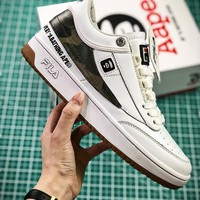 AAPE by A Bathing Ape x FILA T-1 Mid Sneakers 1VT13060-108 - Best Online Sale