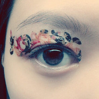 1 Pair of Temporary Tattoo Transfer Stickers for Eyes Eyelids Blossoms Eye  Laced for Prom Festival Masquerade Clubbing Party