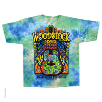 Woodstock Tie Dye Short Sleeve Shirt 60s music music festival
