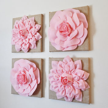 Lt. Pink Burlap Wall Decor