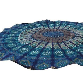 PEAP78W Floral 150cm Round Gifts Beach Pool Beach Towel Mat Yoga Blankets #YL