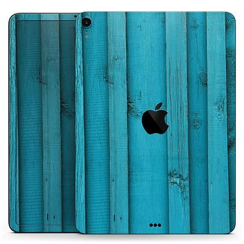 "Signature Blue Wood Planks - Full Body Skin Decal for the Apple iPad Pro 12.9"", 11"", 10.5"", 9.7"", Air or Mini (All Models Available)"