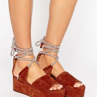 Whistles Molino Rope Suede Wedge Sandal at asos.com