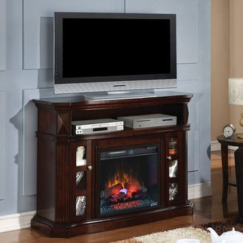 Bell `O Bellemeade 23MM774-E451 Electric Fireplace Media Console in Espresso -SHIPS WITH INFRARED FIREBOX INSERT#23EF031GRP