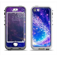 The Glowing Pink & Blue Comet Apple iPhone 5-5s LifeProof Nuud Case Skin Set