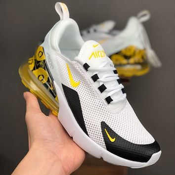 Nike Air Max 270 White Black Yellow Floral Running Shoes - Best Deal Online