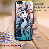 Beautiful Mermaid Ariel iPhone 6s 6 6s+ 5c 5s Cases Samsung Galaxy s5 s6 Edge+ NOTE 5 4 3 #cartoon #disney #animated #theLittleMermaid dl9