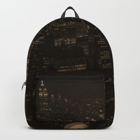 NYC in Sepia Backpack by audrey_ross