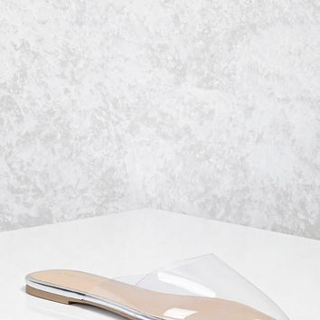 Clear Pointed Toe Flats