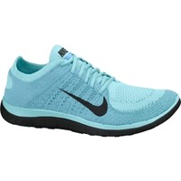 Nike Women's Free 4.0 Flyknit Running Shoe - Glacier Ice/Polarized Blue | DICK'S Sporting Goods