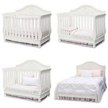 Disney Princess Magical Dreams 4-in-1 Convertible Crib by Delta Children - White Ambiance