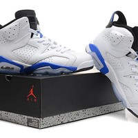Air Jordan 6 Retro AJ6 VI White/Blue Sport Sneaker US 5.5-13