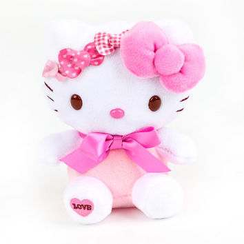 "Hello Kitty 5"" Plush: Pink Bows"