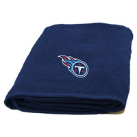 Tennessee Titans NFL Bath Towel with Embroidered Applique Logo (25x50)