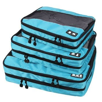 BAGSMART Travel Packing Cube (Small-Large 3 Piece) for Carry-on Travel Accessories. Suitcase and Backpacking (Double Compartment)