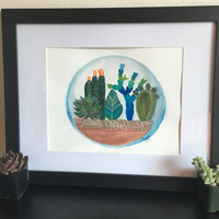 watercolor succulent, succulent watercolor, bohemian rooms, boho rooms, bohemian interior, terrarium, fairy