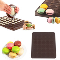 Macaron Silicone Mat  Christmas bakeware Muffins round cakes tools