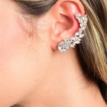 Multi-Stone Wrapped Ear Cuffs Earrings