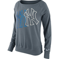 Women's New York Yankees Nike Gray Epic Crew 1.5 Performance Sweatshirt