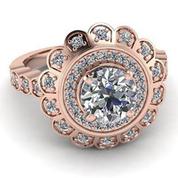 AMAZING 1.50CT ROUND SOLITAIRE STUD 925 STERLING SILVER ENGAGEMENT RING FOR HER