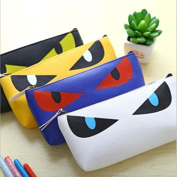 1pc New Cute Kawaii Cat Pencil Case PU Leather