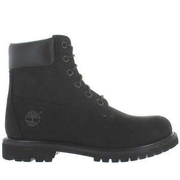 ESBONIG Timberland Earthkeepers 6' Premium - Black Nubuck Classic Lace-Up Boot