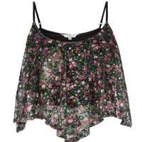 New Look Mobile | Black Ditsy Floral Print Swing Crop Cami