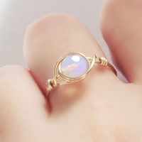 Moonstone ring - unique rings - custom