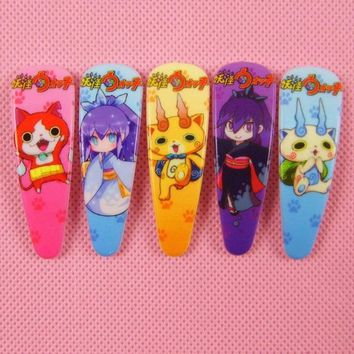 5pcs/lot Girls Kawaii yo-kai yokai Watch Fashion Headwear Hair Claws Clips Fashion Cartoon Kids Accessories