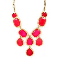 Pree Brulee - Fuchsia & Neon Pink Bauble Necklace