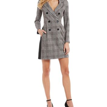 Donna Morgan Double Breasted Menswear Dress | Dillard's