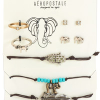 Aeropostale Elephant Jewelry 7-Pack - Multi,