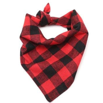 LumiParty Dog Cat Pet Plaid Scarf Bandana Bow Ties Collar Grooming Accessories Bibs for Pet-35