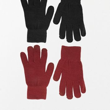 ASOS Gloves 2 Pack With Touch Screen