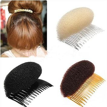 Roller Bumpits Bump Foam On Clear Comb Hair Styler Volume Bouffant Beehive Shaper Xmas Accessories Women Headwears