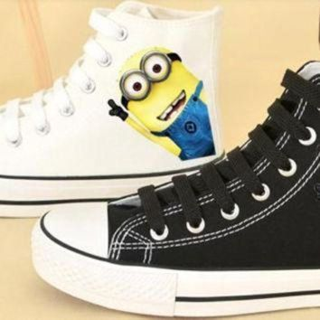 DCCK1IN despicable me 2 minion custom shoes converse despicable me minion shoes hand painted s
