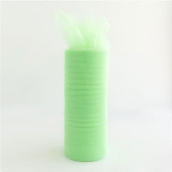 Tulle Spool Fabric Net Roll, 6-inch, 25-yard, Mint Green