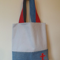 Anchor Denim Tote Bag - Upcycled