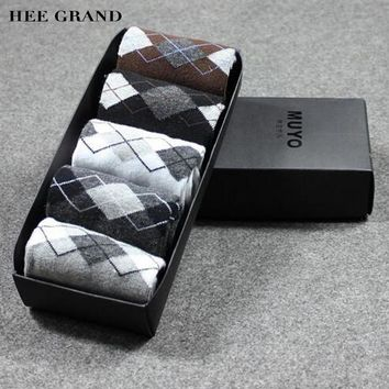 5 pairs Men's Classic Breathable Cotton Socks With Gift Box
