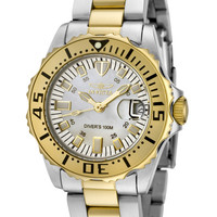Invicta Women's Pro Diver Mother of Pearl Dial Two Tone Stainless SteelInvicta 6895 Watch