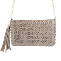 Free Fall Laser Cut Handbag In Grey