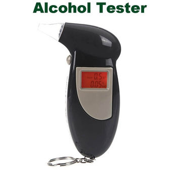Backlit Display Digital LCD Breathalyzer Audible Alert  Breath Alcohol Tester  Home & Tools H10005 = 1652972740