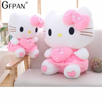 55cm 1PC Cartoon Giant Kawaii Pink Hello Kitty Cats Plush Doll Cute Kitty Animal Cat Doll Toy Soft Pillow Toy Kid Girl Gifts