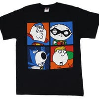 Four Superheroes - Family Guy T-shirt - MyTeeSpot - Your T-shirt Store