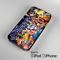 all character disney iPhone 4S 5S 5C 6 6Plus, iPod 4 5, LG G2 G3, Sony Z2 Case