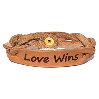 Love Wins Leather Bracelet