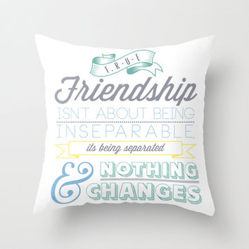 True Friendship Throw Pillow by Conteur Co.