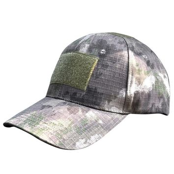 Outdoor Digital Camo Tactical Camouflage Flag Patch Baseball Cap Hats