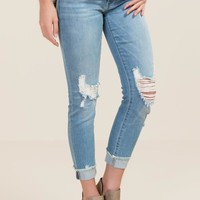 Donna Distressed Frayed Jeans