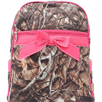 Personalized Natural Camouflage Camo Backpack Pink or Blue Trim Bookbag  Back to School FREE Personaization Dance Bag  Christmas Birthday